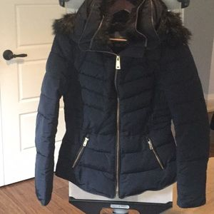 Zara XS Blue Winter Jacket